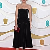 Gillian Anderson at the 2020 BAFTAs in London