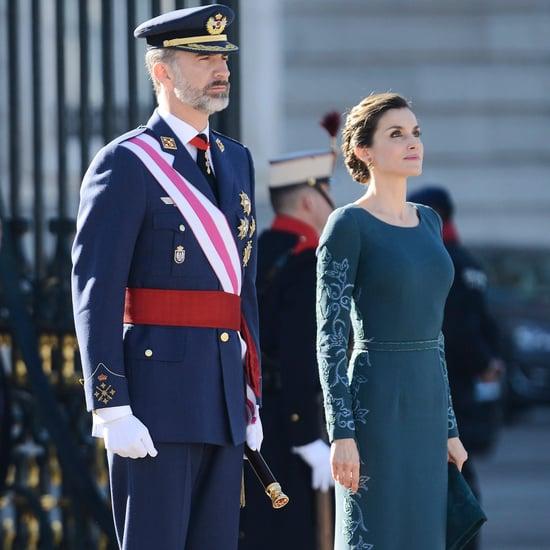 Queen Letizia's Felipe Varela Gown January 2017