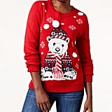 Karen Scott Polar Bear Holiday Sweater ($37, originally 50)