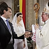 Prince Félix of Luxembourg and Princess Claire participated in a religious ceremony days after their civil wedding ceremony.