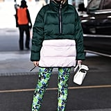 Winter Outfit Idea: A Puffer and Printed Leggings