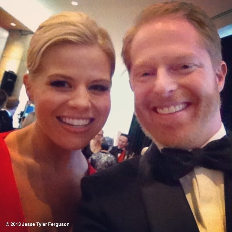 Jesse Tyler Ferguson snapped a photo with Smash's Megan Hilty. Source: Jesse Tyler Ferguson on WhoSay