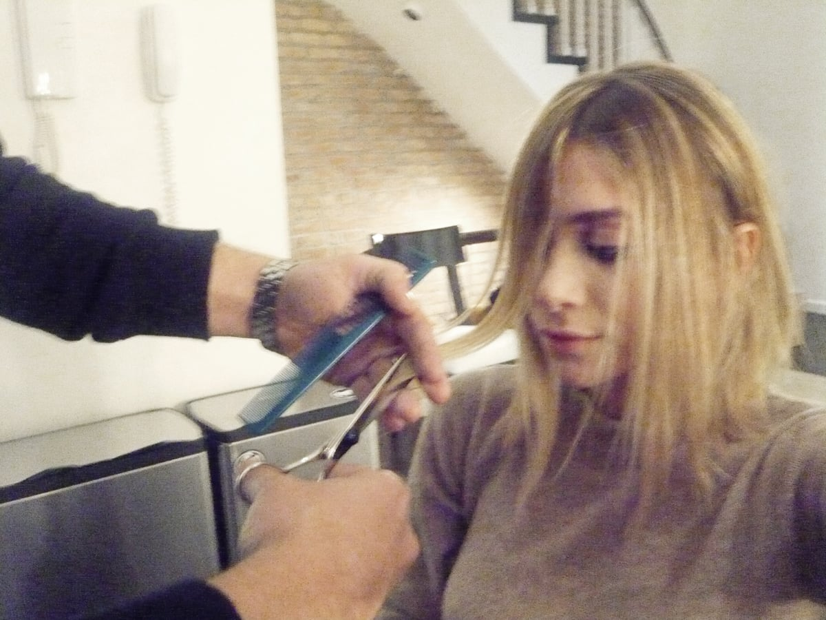 Photos Of Ashley Olsen Getting Her Hair Cut For June S Marie Claire Popsugar Celebrity