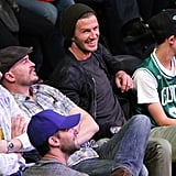 David Beckham checked out the Lakers.