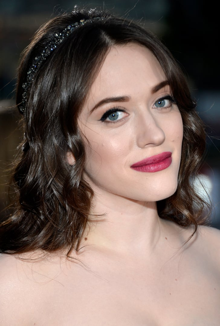 Kat Dennings Makeup And Hair Looks For Christmas Parties