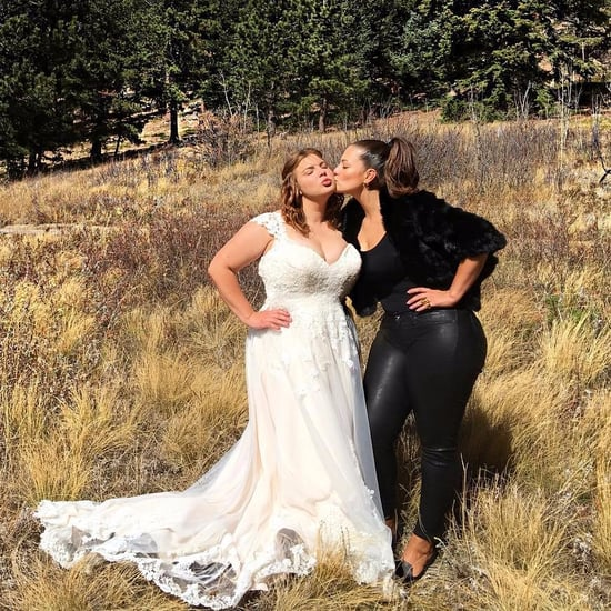 Ashley Graham Wearing Leather Pants at Her Sister's Wedding