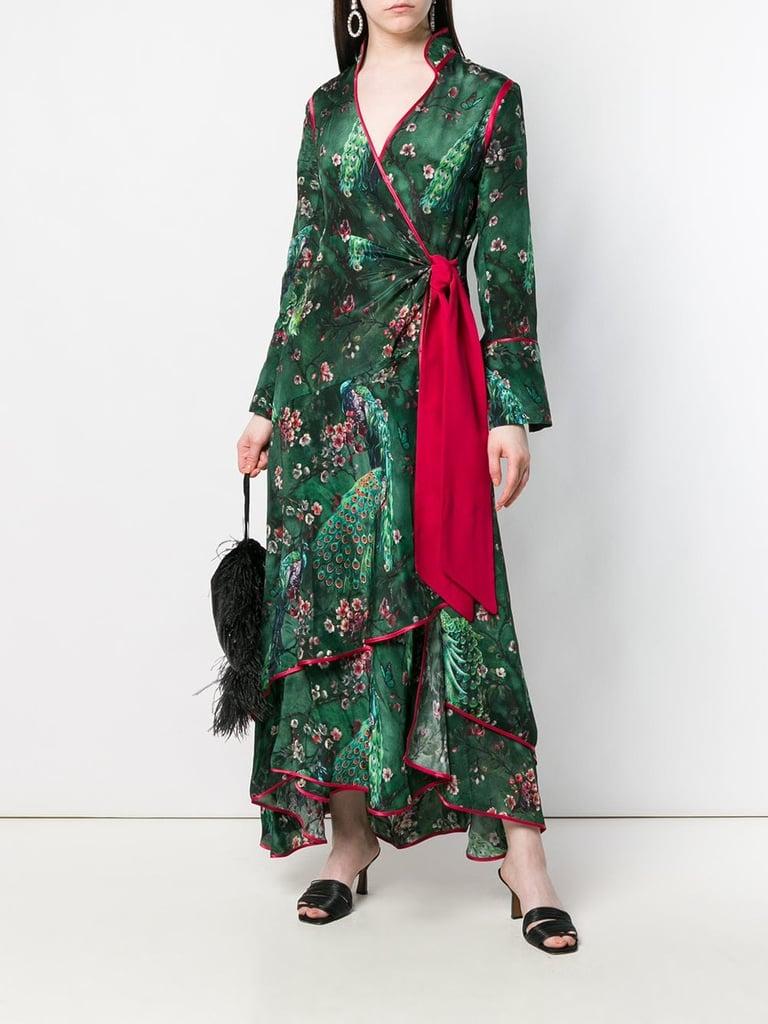 FRS For Restless Sleepers Printed Wrap Kimono Dress