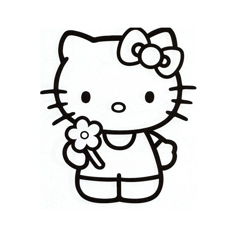 Hello kitty template free for Hello kitty cut out template