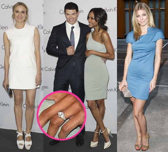 Zoe Saldana's Engagement Ring With Kellan Lutz, AnnaLynne McCord, Diane Kruger at Calvin Klein event