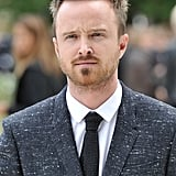 Aaron Paul checked out the Burberry presentation.