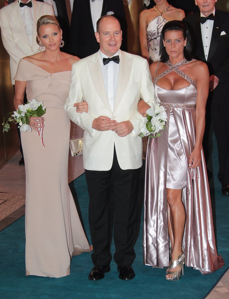 Prince Albert arrived at the 2010 Red Cross gala with his then-fiancée and Princess Stephanie of Monaco on his arms.  Source: Getty / Stephanie Danna/AFP