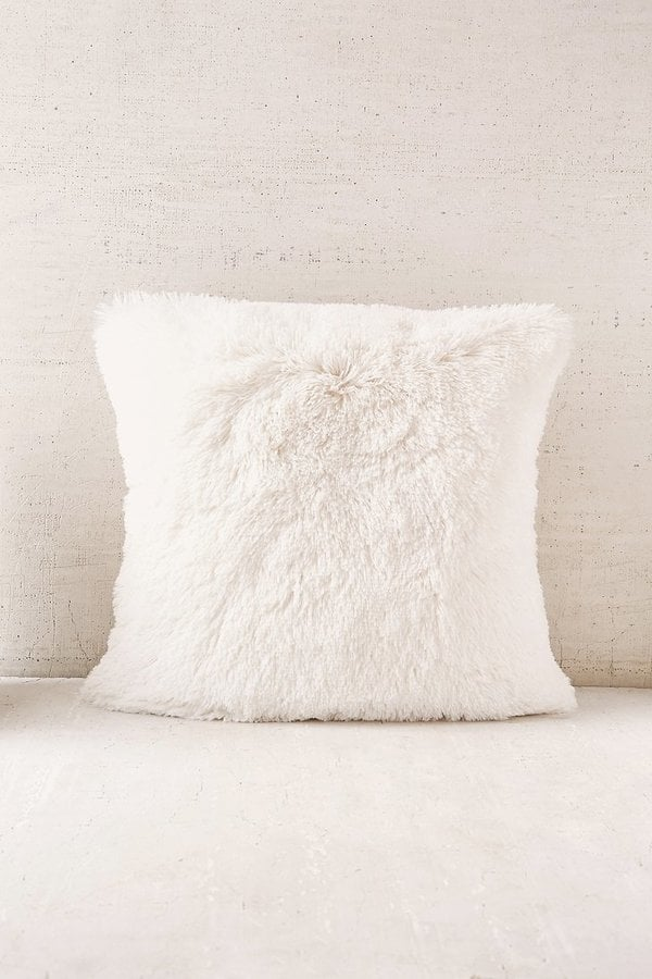 natural inch amazon white brentwood home com kitchen fur faux dp pillow mongolian