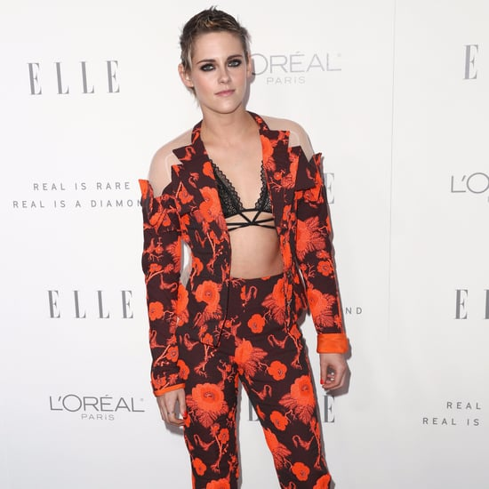Kristen Stewart's Orange Antonio Berardi Suit