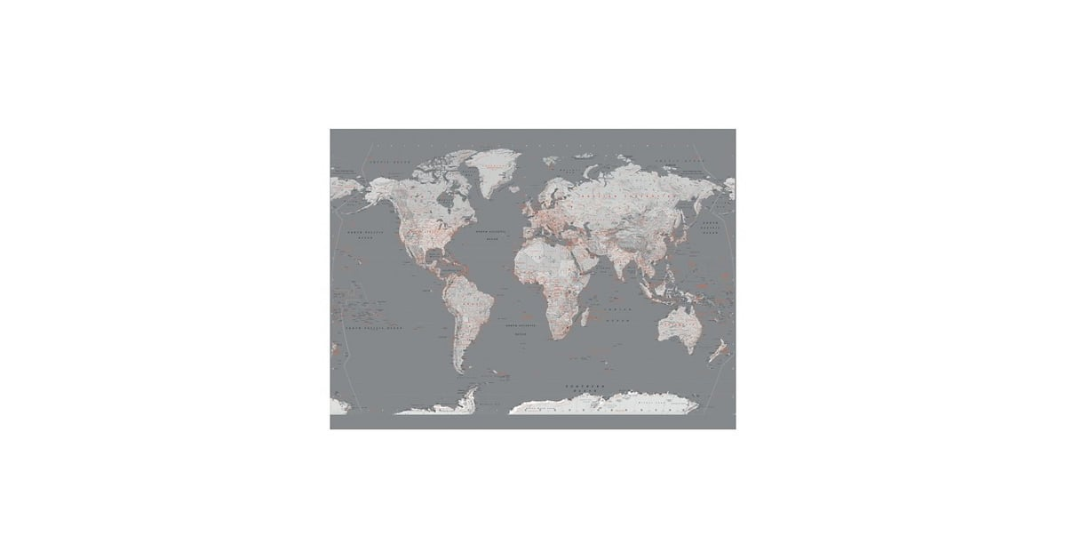 Art wallpaper mural contemporary grey world map 8999 art wallpaper mural contemporary grey world map 8999 gray bedroom popsugar home photo 27 gumiabroncs Images