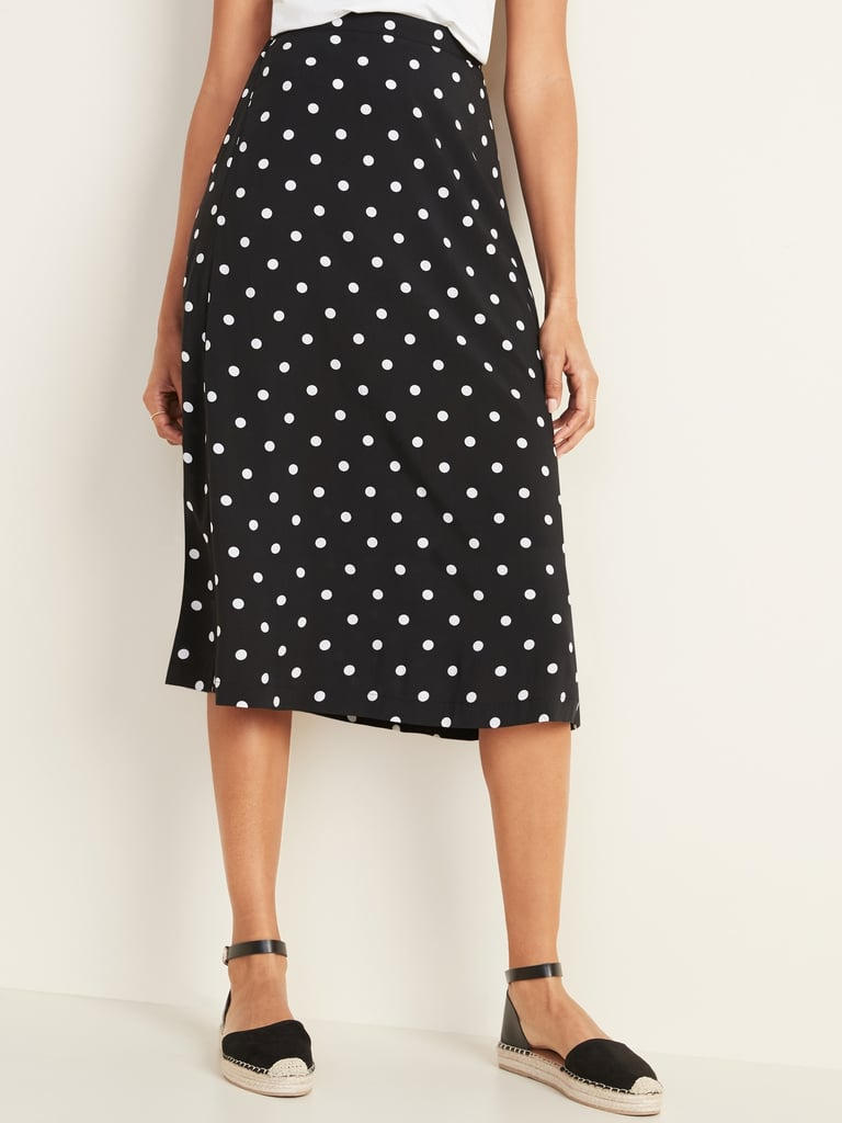 Lightweight Midi Slip Skirt