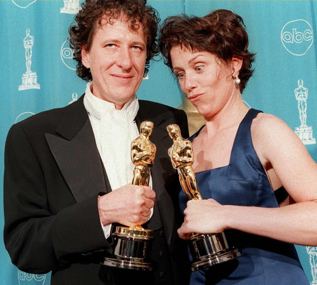 Geoffrey Rush and Frances McDormand, 1997