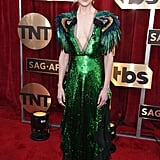 Nicole Kidman's Gucci Gown Comes With Parrots Sitting on Her Shoulders