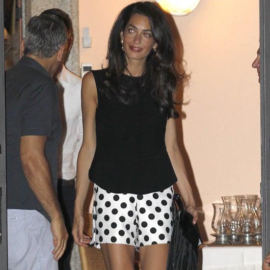 Amal Clooney Polka-Dot Shorts