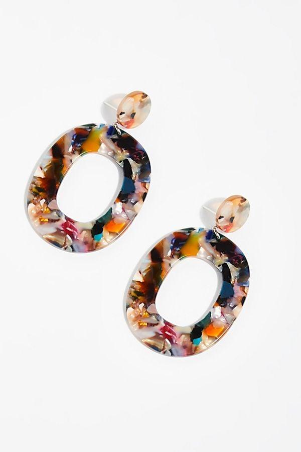 Lucy Resin Hoop Earrings