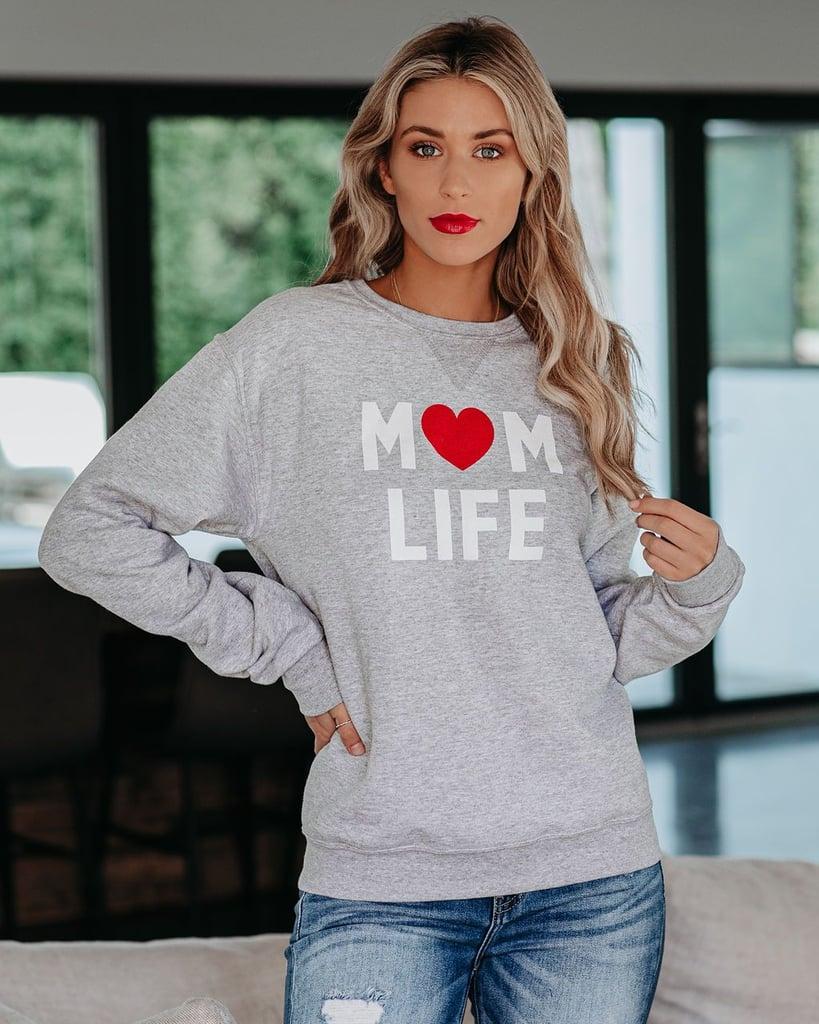 Vici Collection Mom Life Crewneck Sweatshirt