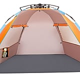 OILEUS X-Large 4-Person Beach Tent Sun Shelter