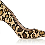 Sam Edelman Hazel Leopard Calf Hair High Heel Court Shoes