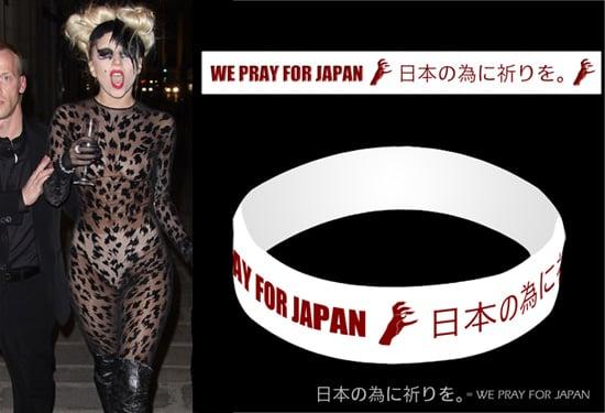 Lady Gaga Designs Charity Wristband for Japan Earthquake