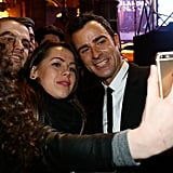 When he posed for cute selfies with his fans.