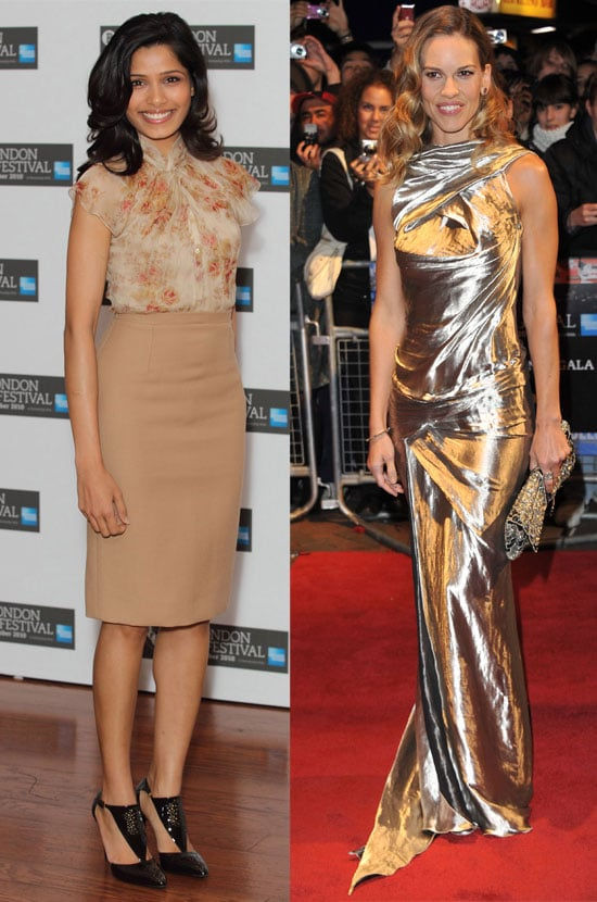 Pictures of Birthday Girl Freida Pinto At The London Film Festival Miral Press Conference, Plus Conviction Premiere