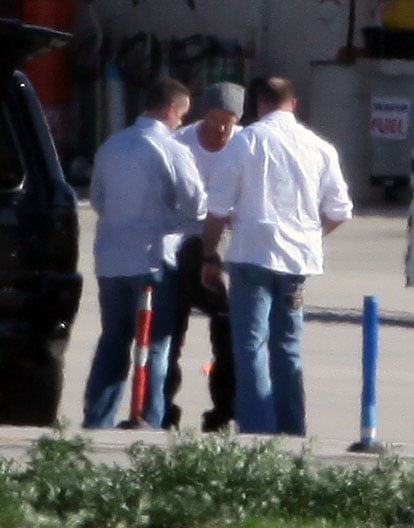 Photos of David Beckham at the Airport in LA