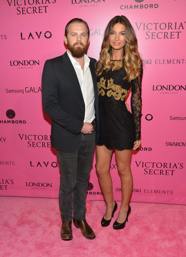 Caleb Followill and Lily Aldridge were on the pink carpet at the Victoria's Secret Fashion Show after party in NYC.