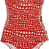 Stella McCartney Heart Print Bandeau Swimsuit ($370)