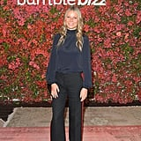 Gwyneth Wore Her Trousers With Orange Pumps