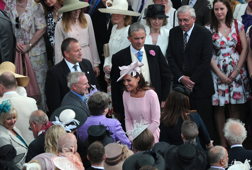 Kate Middleton greeted attendees at the garden party.