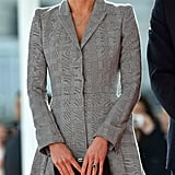 In Her First Appearance After Announcing Her Pregnancy, She Donned a Tailored Alexander McQueen Coatdress