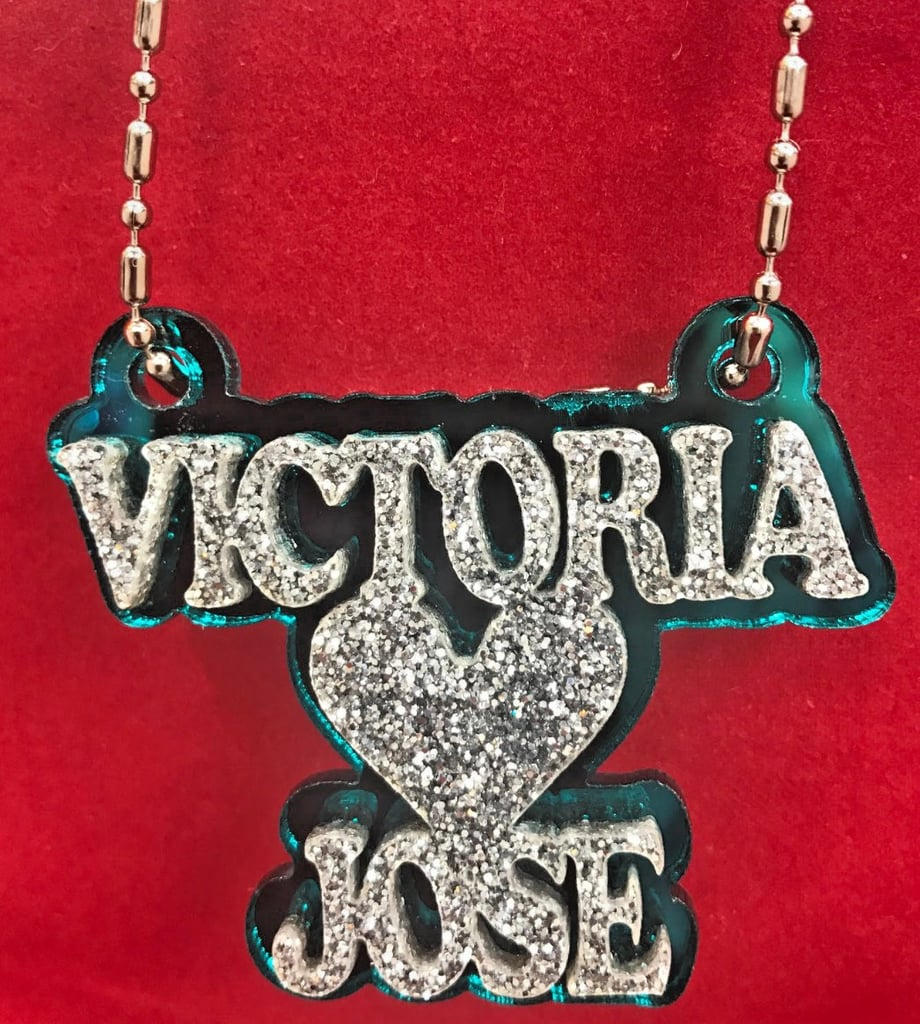 Mirror Mania Store Personalized Couple Name Necklace