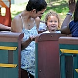 Halle Berry and Nahla Aubry rode a ride.