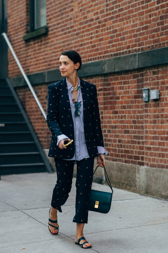 Dress down a suit with slides all summer.