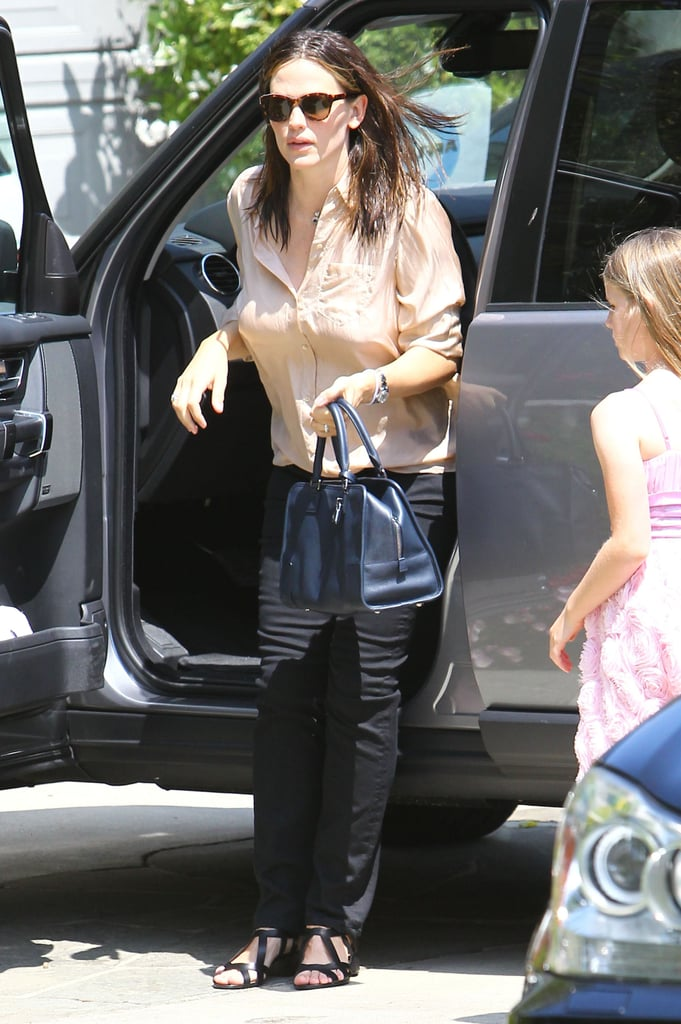 Jennifer Garner got out of her car at a friend's birthday party in LA.