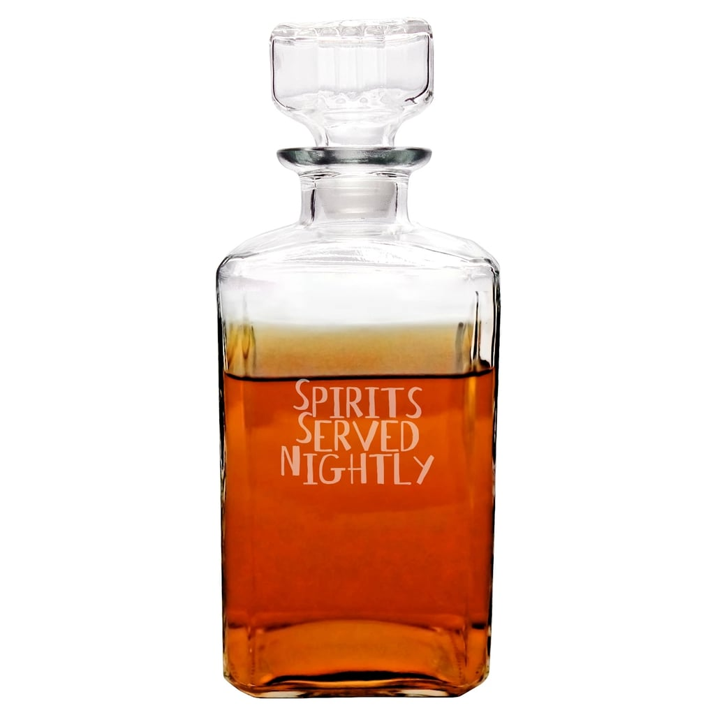 Halloween Spirits Served Nightly Decanter