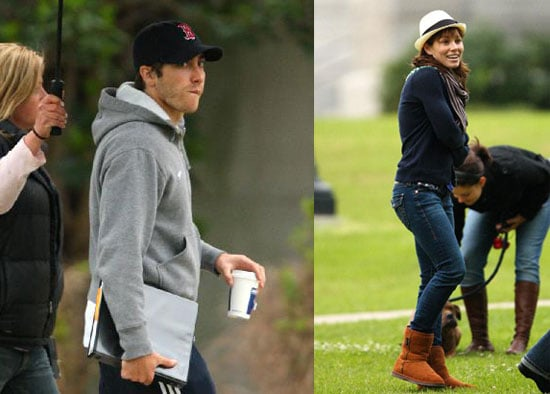 Jake Gyllenhaal and Jessica Biel on the Set of Nailed