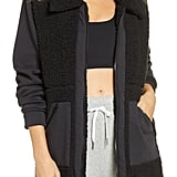 Zella Mix it Up Faux Shearling Jacket