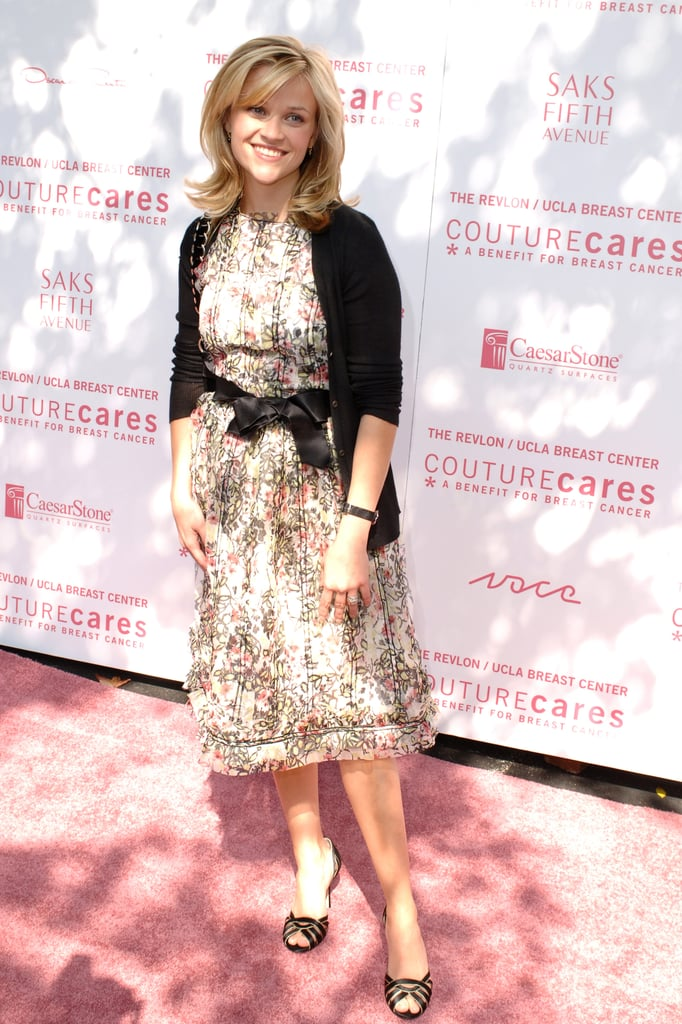 For a 2005 Revlon/UCLA Breast Cancer Center event, Reese rocked a sweet, floral day dress.