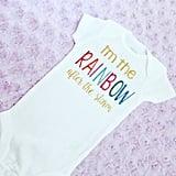 Glitter Rainbow Baby Onesie