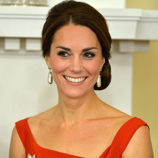 Kate Middleton Red Preen Dress in Canada September 2016