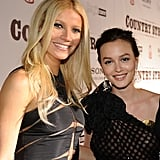Gwyneth and Leighton Meester met up at the Nashville screening of their film Country Strong in November 2010.