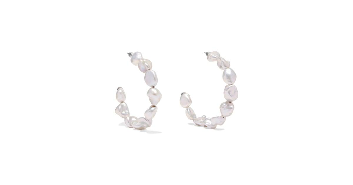 Meadowlark Romeo Pearl Hoop Earrings Jewelry Trends 2018