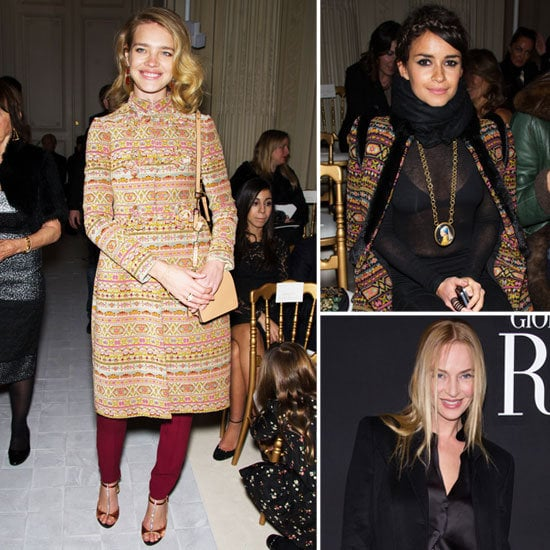 The front row fashion was almost as good as the couture shows themselves.