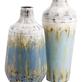 Madeline: Rustic Set of Two Metal Vases