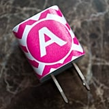 Monogrammed iPhone Charger Decal